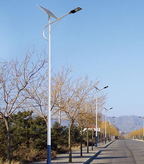 单头海螺臂太阳能路灯 DL-1201